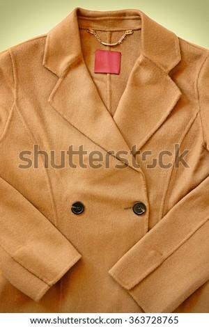 Close-up of wool coat. - stock photo
