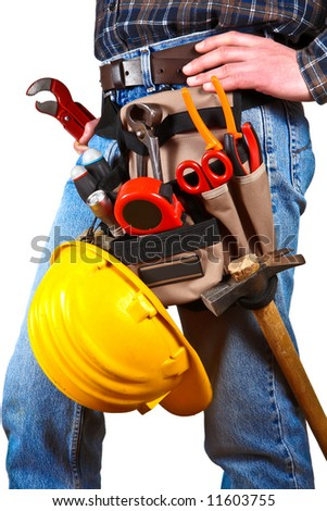 Close-up of worker with tools 5 - stock photo
