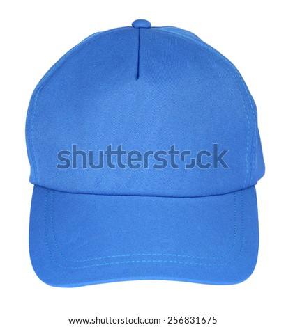 Close up of working peaked cap. Isolated on a white background. - stock photo