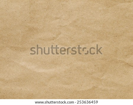Close up of wrinkle brown bag texture - stock photo