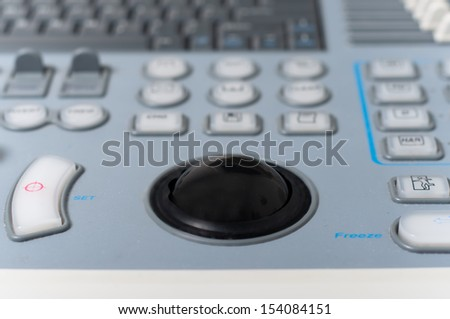Close-up of x ray machine in hospital with modern medicine - stock photo