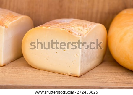 Close up of yellow cheese