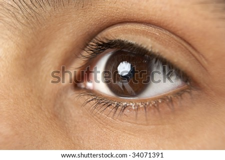 Close-Up Of Young Boy's Ear - stock photo