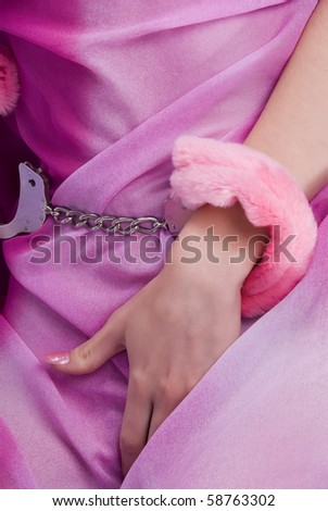Close-up of young woman masturbating - stock photo