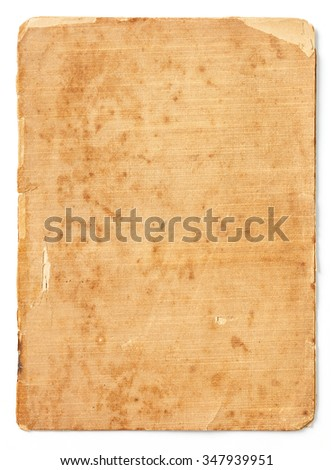 Close up old and dirty note paper texture isolated on white isolated on white