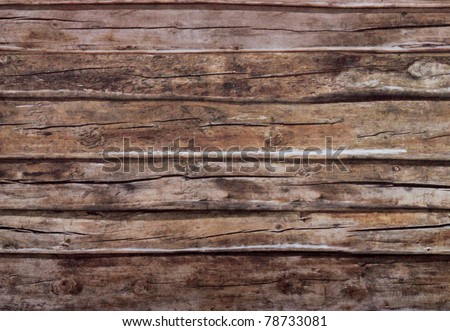 Close-up old dark wood texture with natural patterns - stock photo