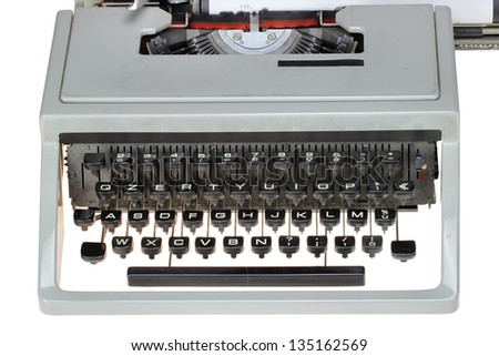 Close up  old typewriter with text WWW - stock photo