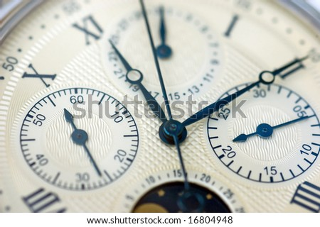 Close up old vintage watch - stock photo