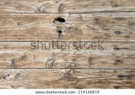 close up old wood boards background - stock photo