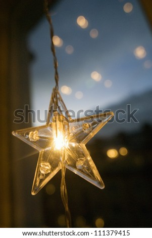 Close-up on a Christmas decoration