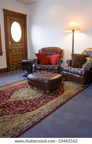 Close up on a Classic Family Room - stock photo