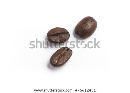Close-up on a Coffee Beans in white background