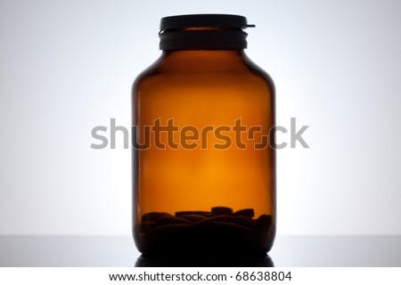 Close up on a medicine bottle - stock photo