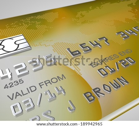 close up on a premium rich credit card