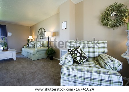 Close up on a Trendy Modern Dining Room - stock photo