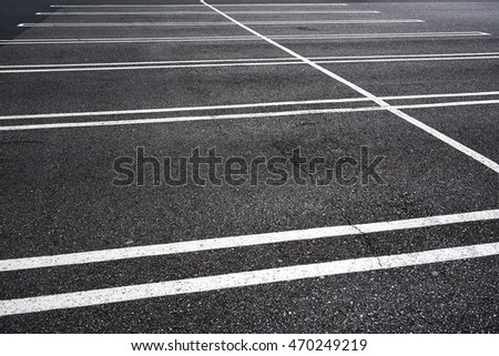 close up on empty parking lot