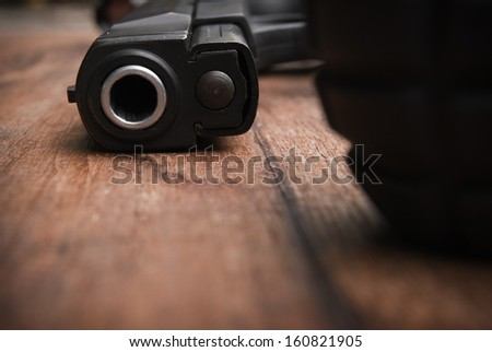close-up on 9mm - stock photo