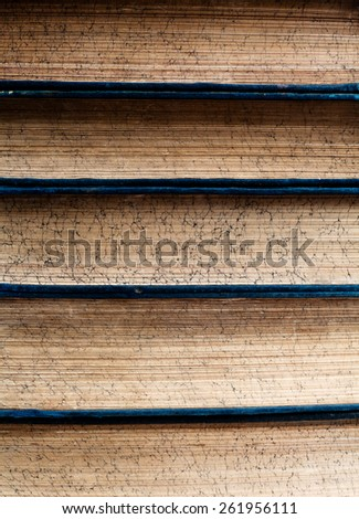 Close up on old books - stock photo