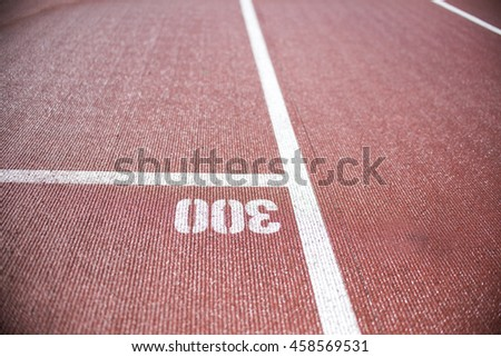 close up on running track, athletic background