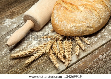 Close-up on traditional bread - stock photo