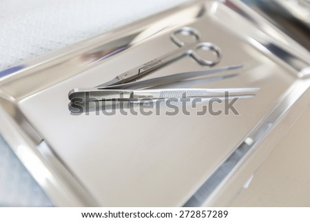 Close up on wound dressing,wound kit - stock photo