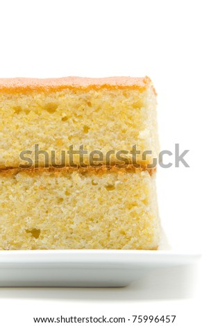 Close-up partial view of a stacked corn bread
