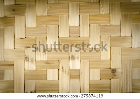 Close up pattern of Bamboo woven basket - stock photo