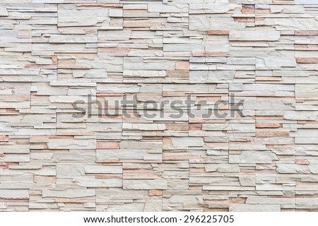 Close up Pattern of travertine natural stone wall texture and background - stock photo