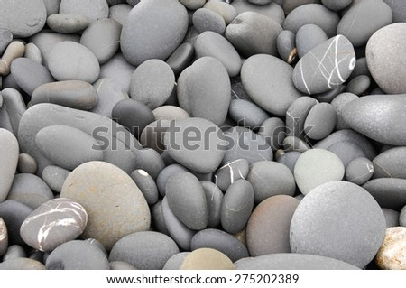 Close up pebbles background - stock photo
