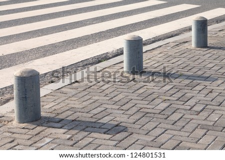 Close-up Pedestrian Crossing - stock photo