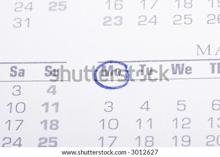 close-up photo of a calendar page