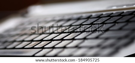 Close up photo of a modern laptop