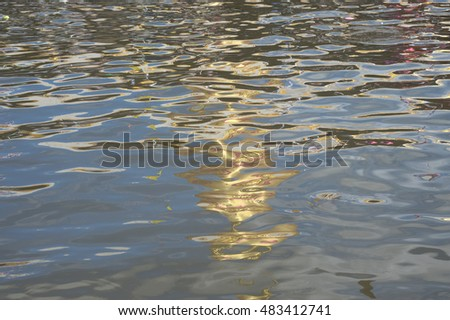 Close up photo of abstract water reflection.
