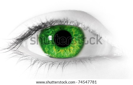 Close up photo of an eye.