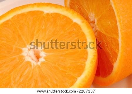 Close up photo of an orange. - stock photo