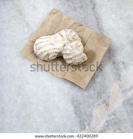 Close up photo of cookies on marbe