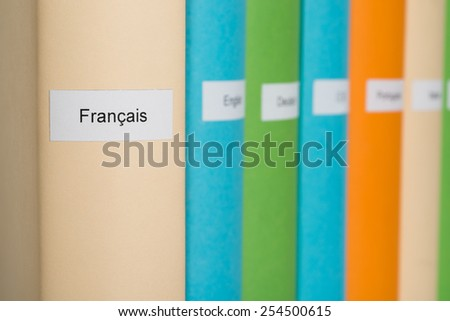 Close-up Photo Of French Language Book  - stock photo