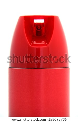 Close-up picture of a spray can nozzle. - stock photo