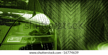 Close-up picture of acar beacon - stock photo