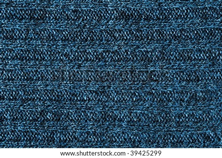 Close up picture of dark blue wool background