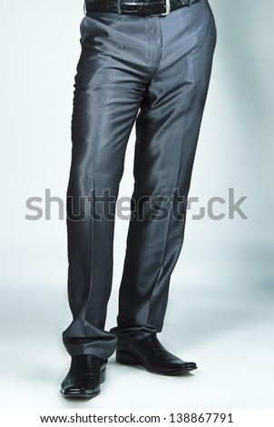 Close up picture of man's casual trousers. - stock photo