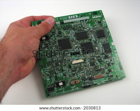 Close up pictures of electronics boards - stock photo