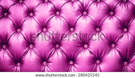 close up pink Leather texture Background - stock photo