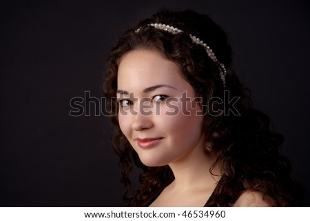 Close-up portrait of a beautiful girl
