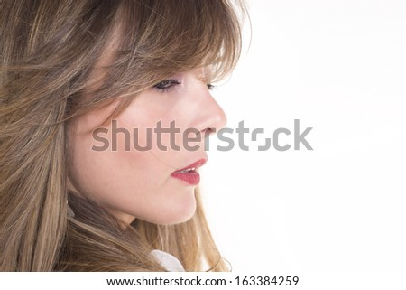 Close up portrait of a blond girl