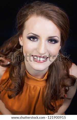 Close up portrait of a girl smiling