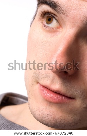 Close up portrait of a man. - stock photo