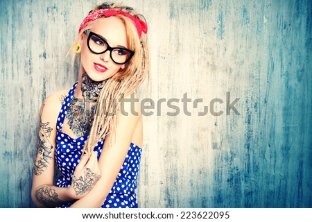Tattoo Girl Stock Images, Royalty-Free Images & Vectors ...