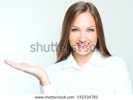 close-up portrait of a smiling and successful business woman.