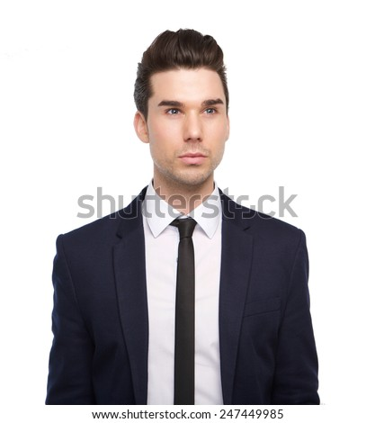 Close up portrait of a trendy young man with jacket and tie